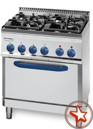Gastro Gasherde mit Gas- oder Umluft-Elektro-Backofen
