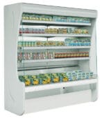 Wandkühlregale GS-PA mit selbst tragendem Rahmen