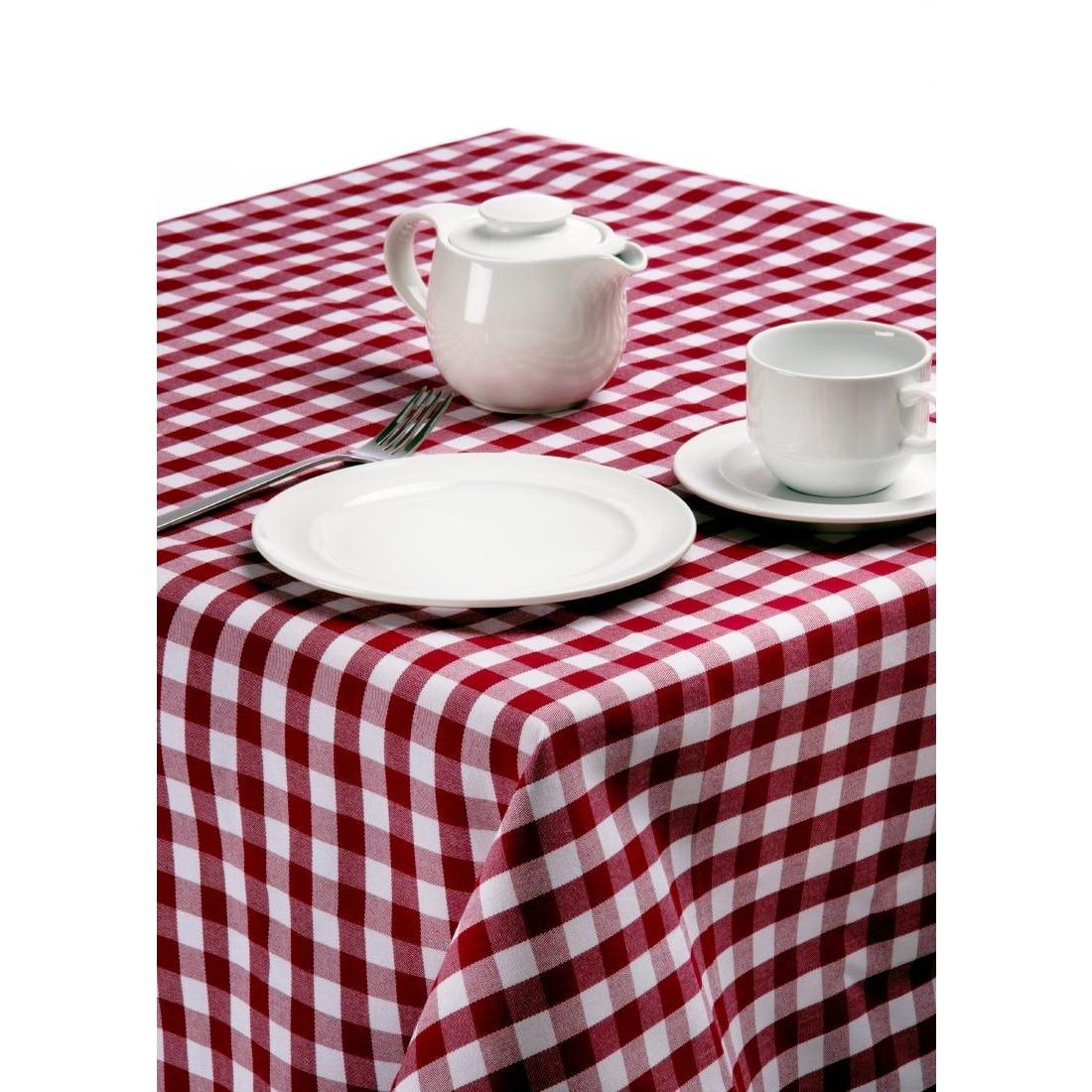 Karierte Tischwäsche