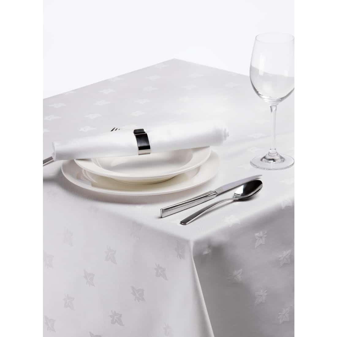 Damast Tischwäsche mit Efeublatt-Design