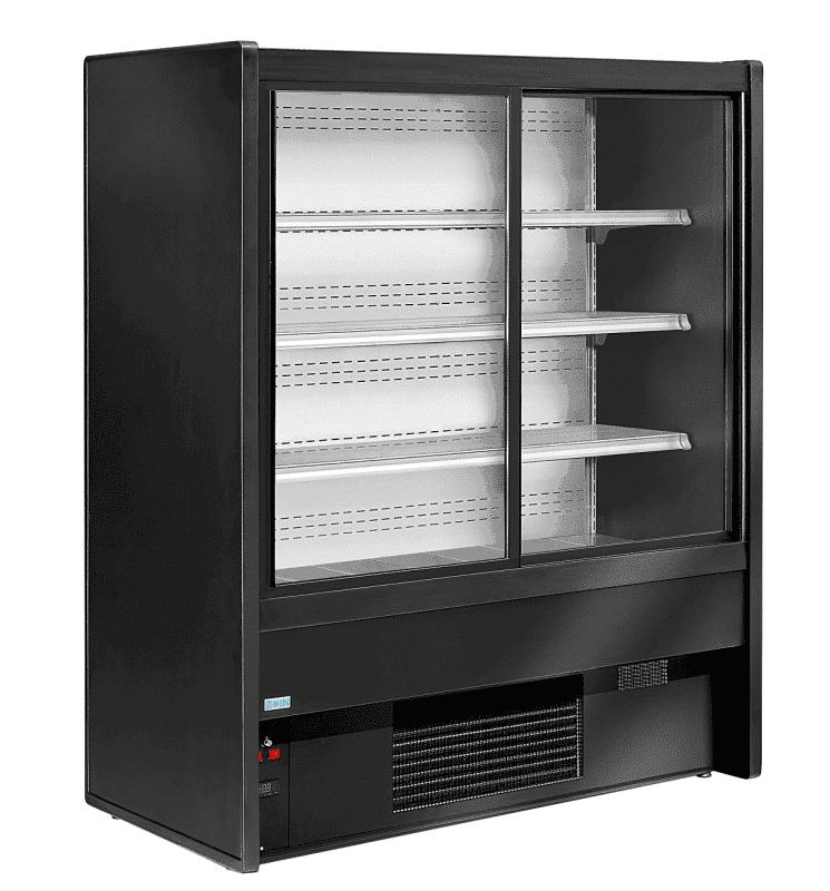 Wandkühlregale GS-DI mit Schiebetüren