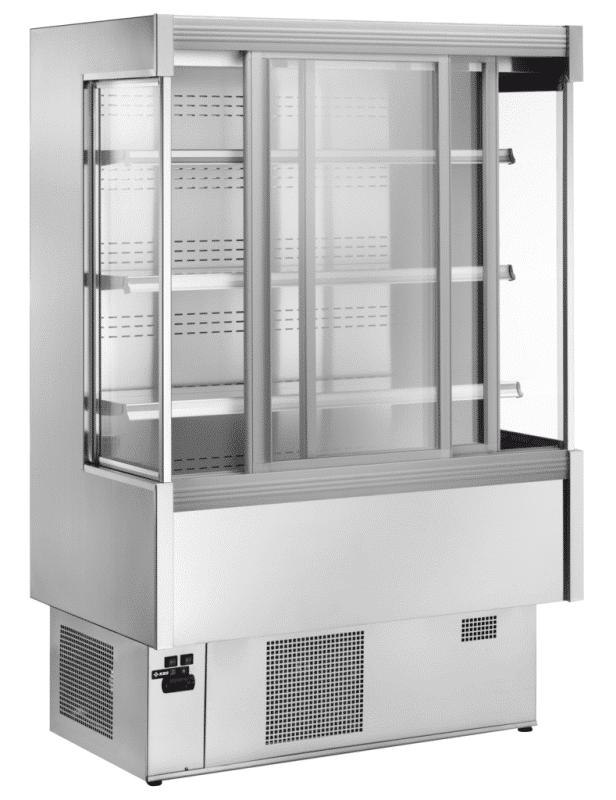 Wandkühlregale GS-PI mit Schiebetüren